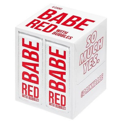 BABE RED WITH BUBBLES  4PK  250ML
