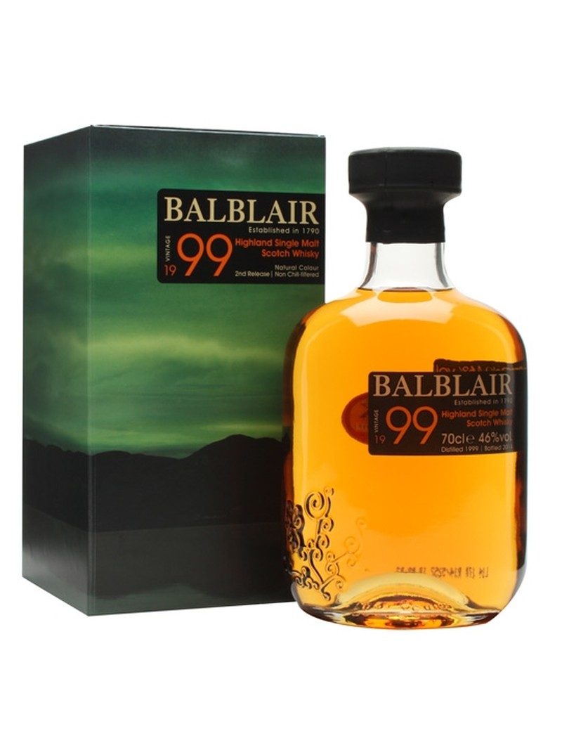 BALBLAIR 1999 HIGHLAND SINGLE MALT SCOTH WHISKY 750ML