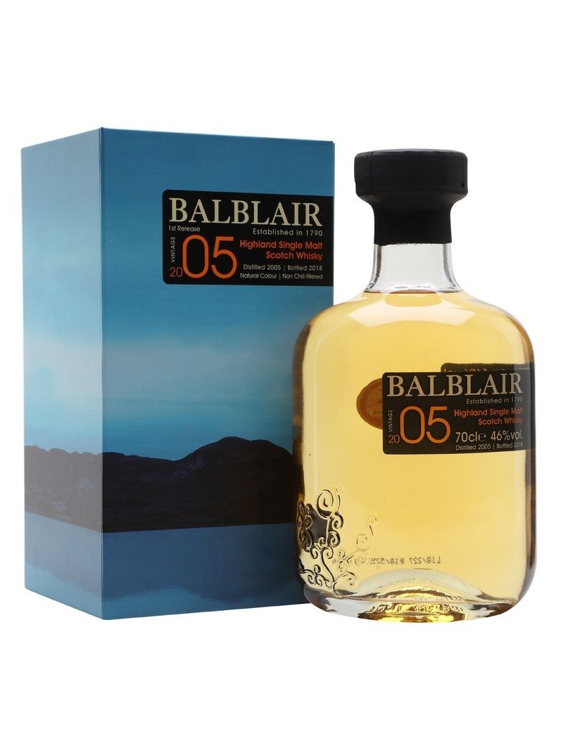BALBLAIR 2005 HIGHLAND SINGLE MALT SCOTH WHISKY 750ML