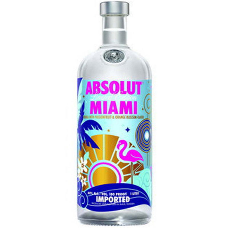 ABSOLUT MIAMI LIMITED EDITION 750ml