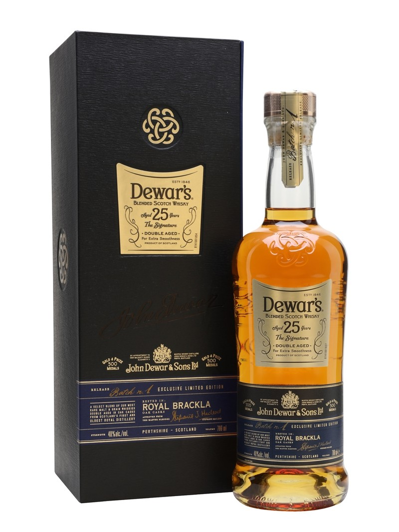 DEWAR'S 25 YEAR  OLD SCOTCH WHISKY 750ML