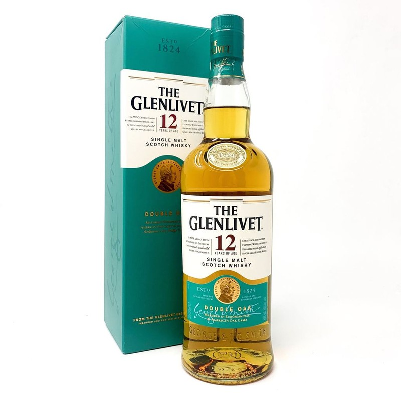 THE GLENLIVET 12 YRS DOUBLE OAK SINGLE MALT 750ML