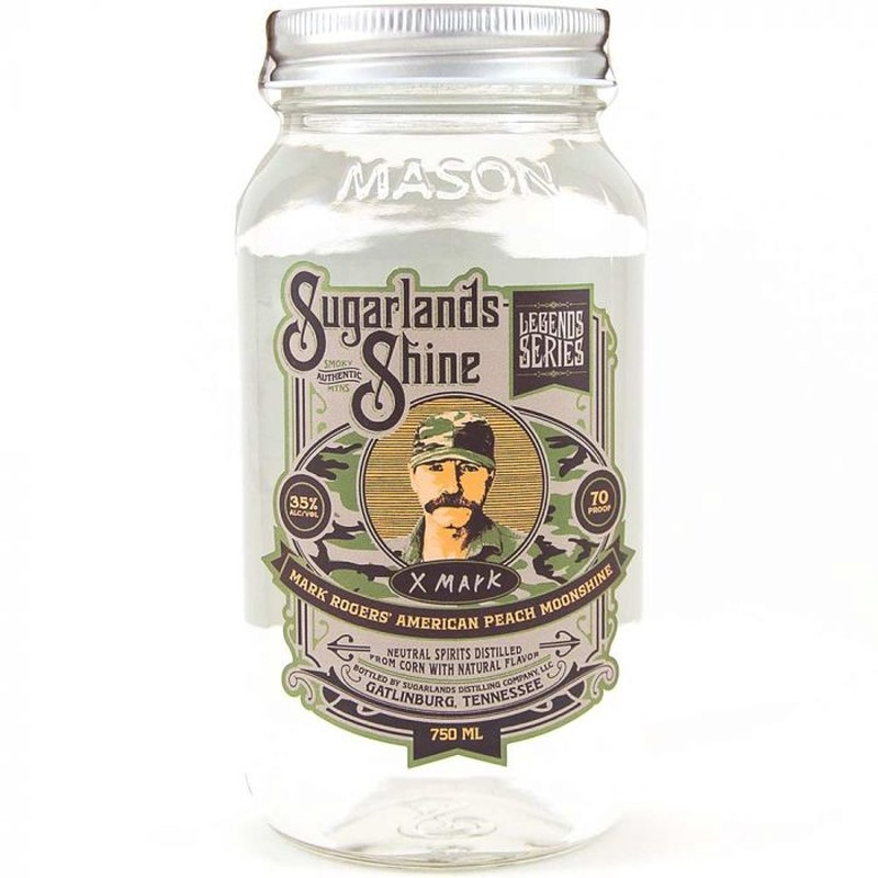 SUGARLANDS SHINE AMERICAN PEACH MARK ROGERS MOONSHINE 750ML