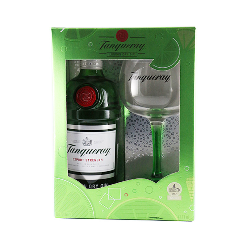 TANQUERAY LONDON DRY GIN GIFT SET 750ML