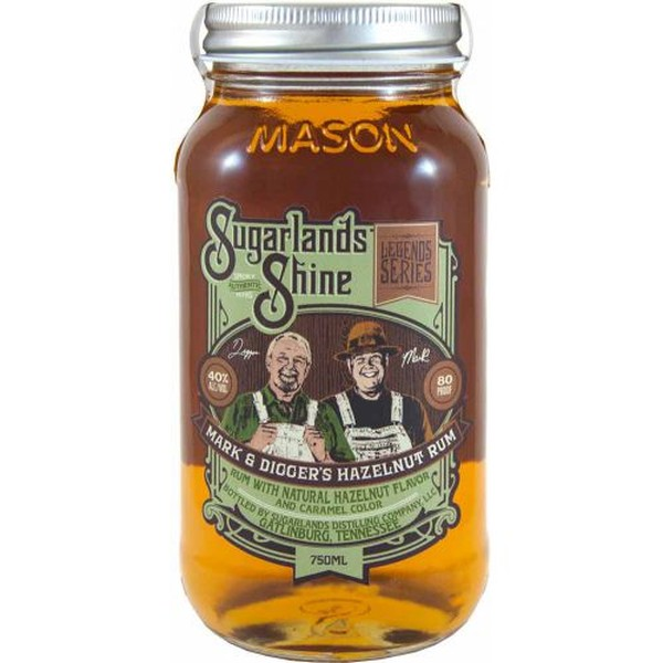SUGARLANDS SHINE HAZELNUT RUM MOONSHINE 750ML