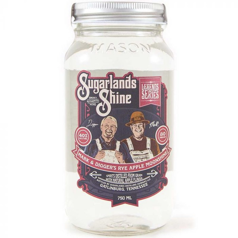 SUGARLANDS SHINE MARK &DIGGER'S  RYE APPLE MOONSHINE 750ML