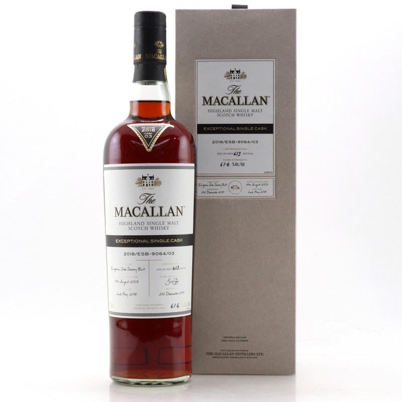 THE MACALLAN EXCEPTIONAL SINGLE CASK  2018/ESB-9064/03 750ML