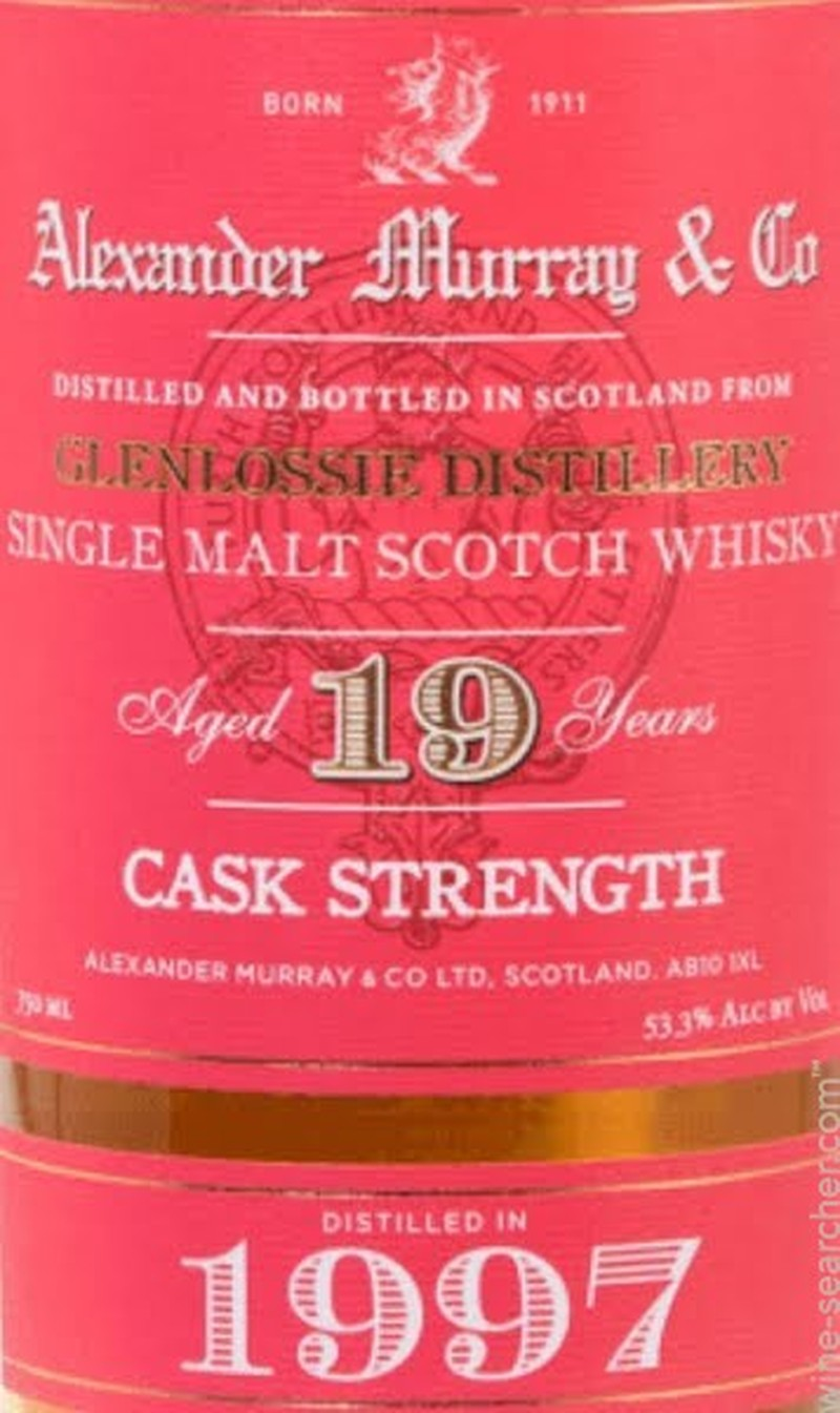 ALEXANDER MURRAY & CO GLENLOSSIE 19 YRS CASK STRENGTH 1997 750ML