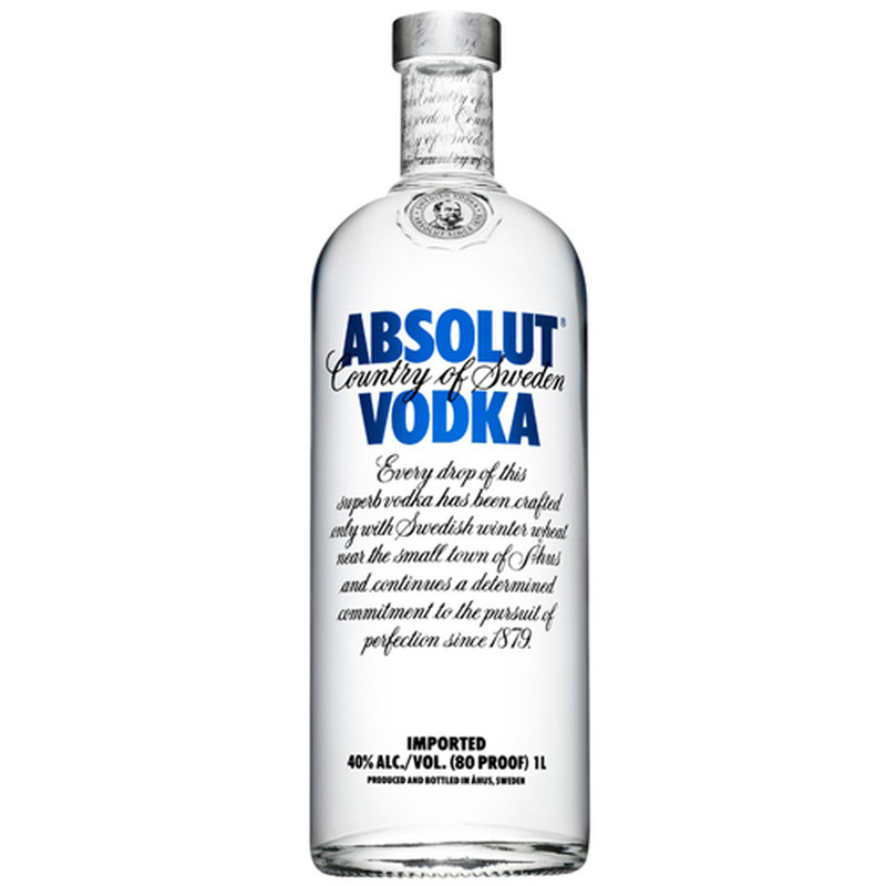 ABSOLUT 80 PROOF 1L