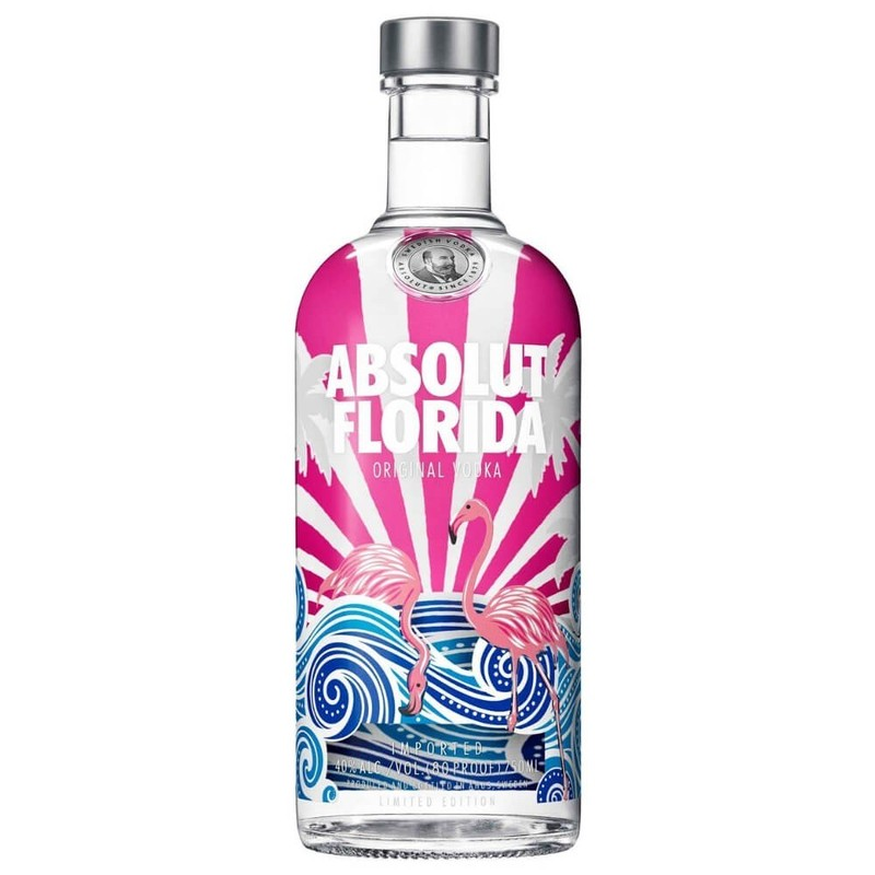 ABSOLUT FLORIDA VODKA  LIMITED EDITION 750ML