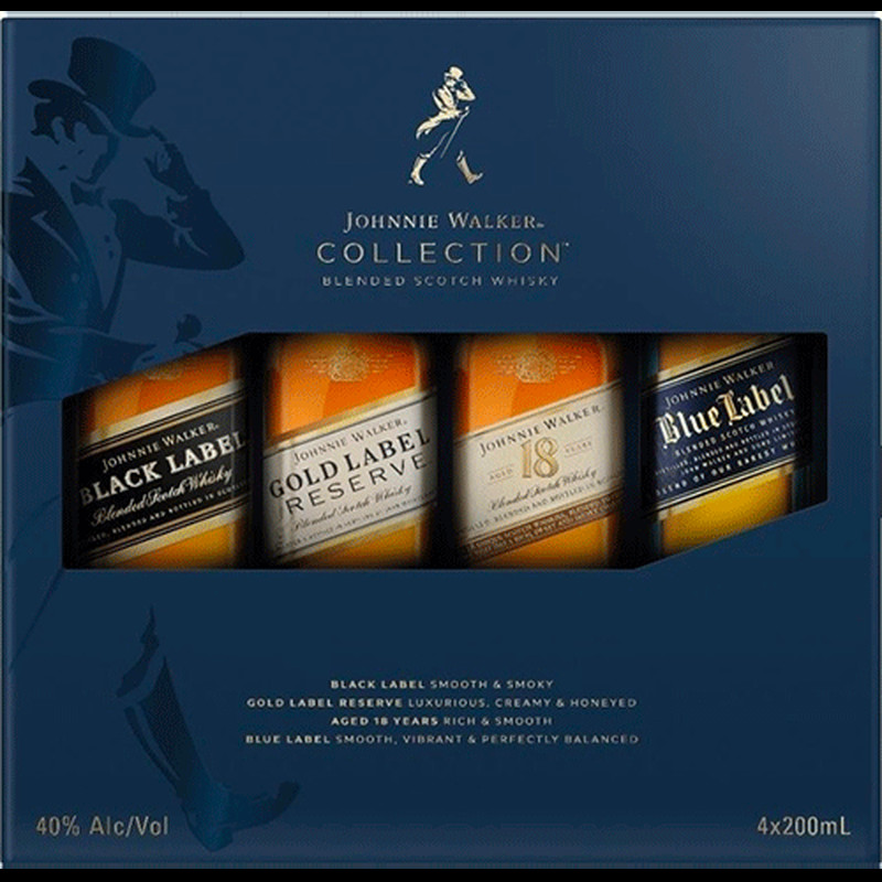 JOHNNIE WALKER THE COLLECTION 4bottles  375ml